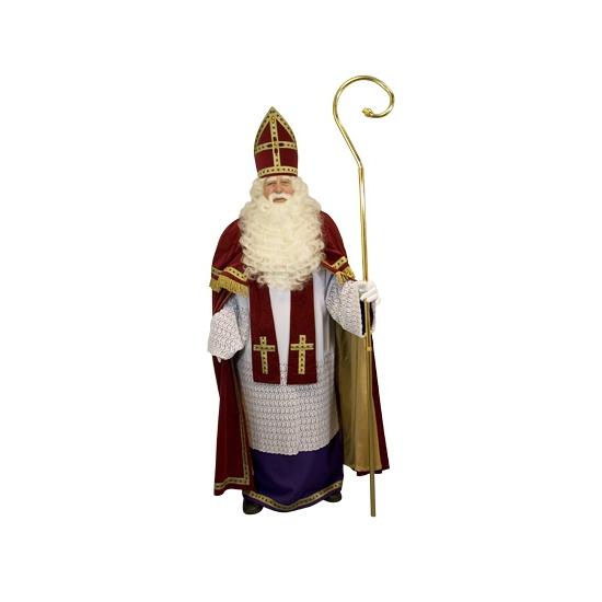 Compleet sinterklaas kostuum deluxe. zeer luxe en compleet sinterklaas kostuum van katoen en katoenfluweel. ...