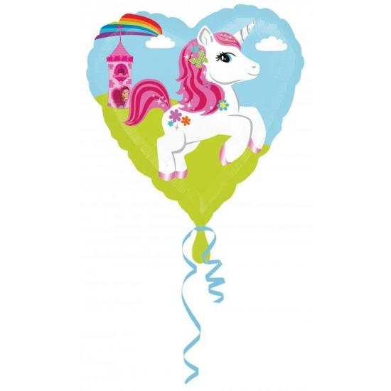 Image of Folie ballon eenhoorn hart 43 cm