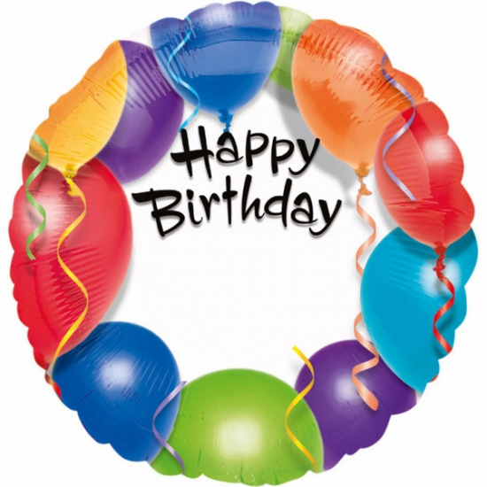 Image of Folie ballon Happy Birthday 45 cm