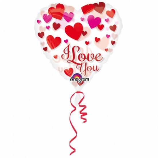 Image of Folie ballon hart i love you 66 cm