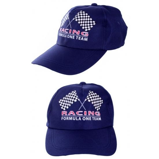 Image of Formule 1 race baseballcaps blauw