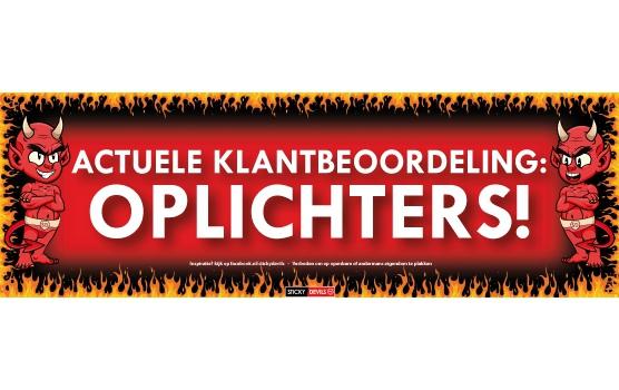 Image of Frustratiesticker Actuele klantbeoordeling: oplichters!