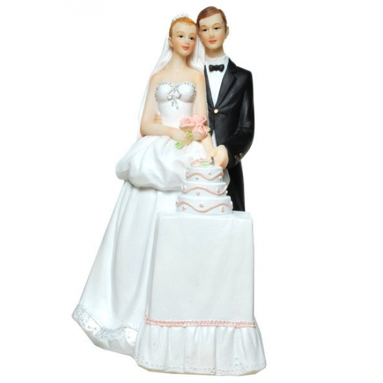 Image of Gadget spaarpot bruidspaar met taart