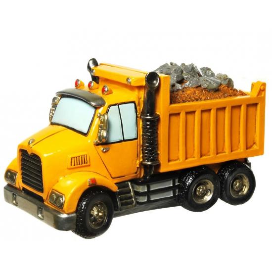 Image of Gadget spaarpot gele vrachtwagen