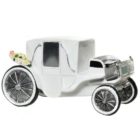 Image of Gadget spaarpot witte koets