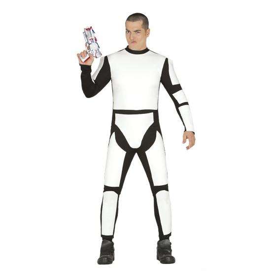 Image of Galaxy schurk kostuum wit