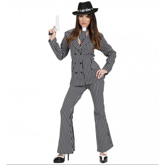 Gangster kostuum voor dames. dit sexy gangster kostuum bestaat uit een broek, de jas en de stropdas. ...