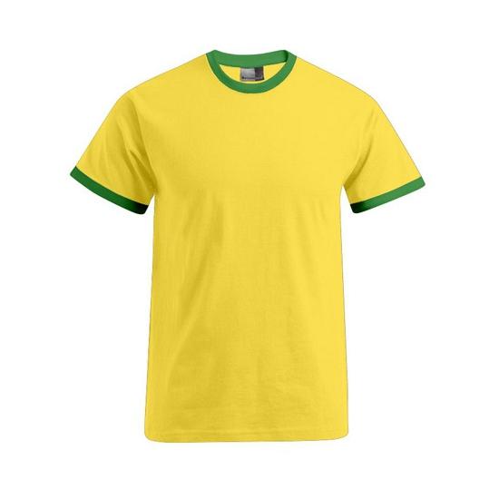 Image of Geel met groen t-shirt voor heren