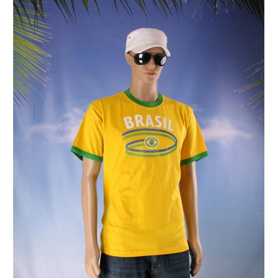 Image of Geel T-shirt met Brasil print
