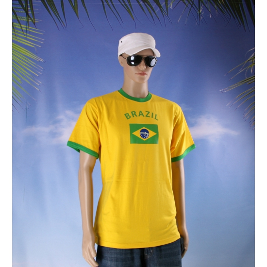 Image of Geel T-shirt met Brazil print