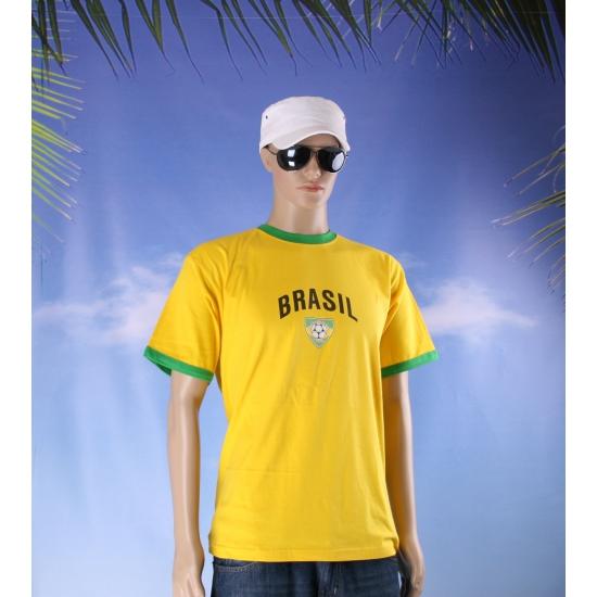 Image of Geel voetbal T-shirt met Brasil print