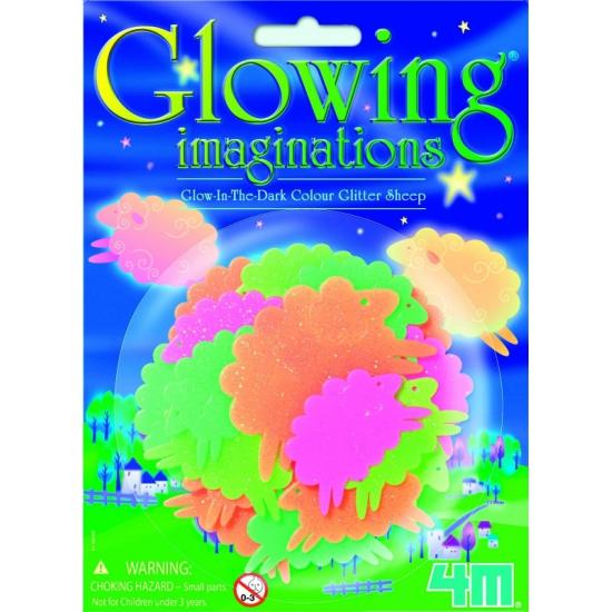 Image of Gekleurde glow in the dark schapen