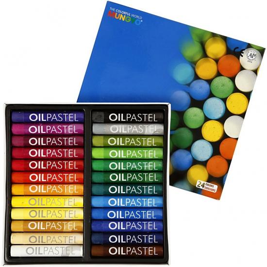 Image of Gekleurde oliepastelkrijt 24 stuks