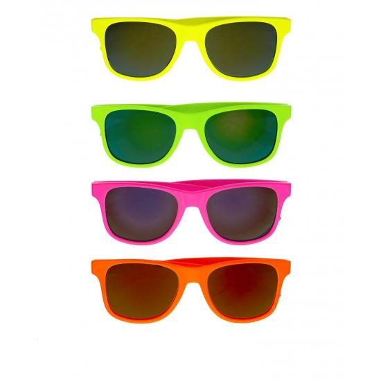 Image of Gekleurde retro zonnebril
