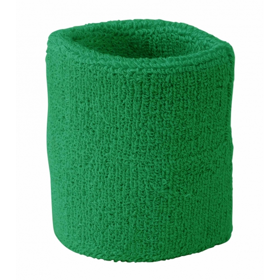 Image of Gekleurde zweetbandjes pols groen