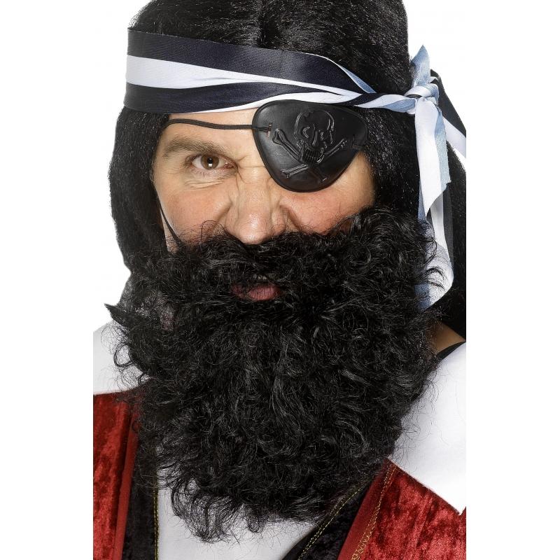 Image of Gekrulde zwart piraten baard