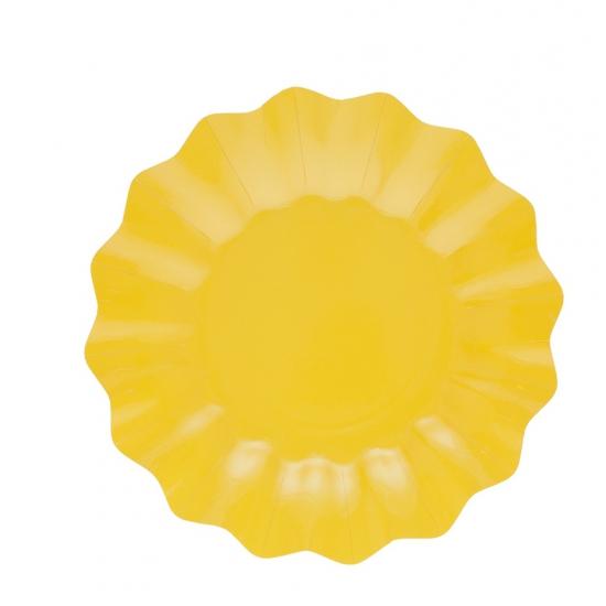 Image of Gele diepe feestbordjes 27 cm