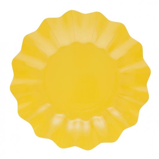 Image of Gele diepe feestbordjes geel21 cm