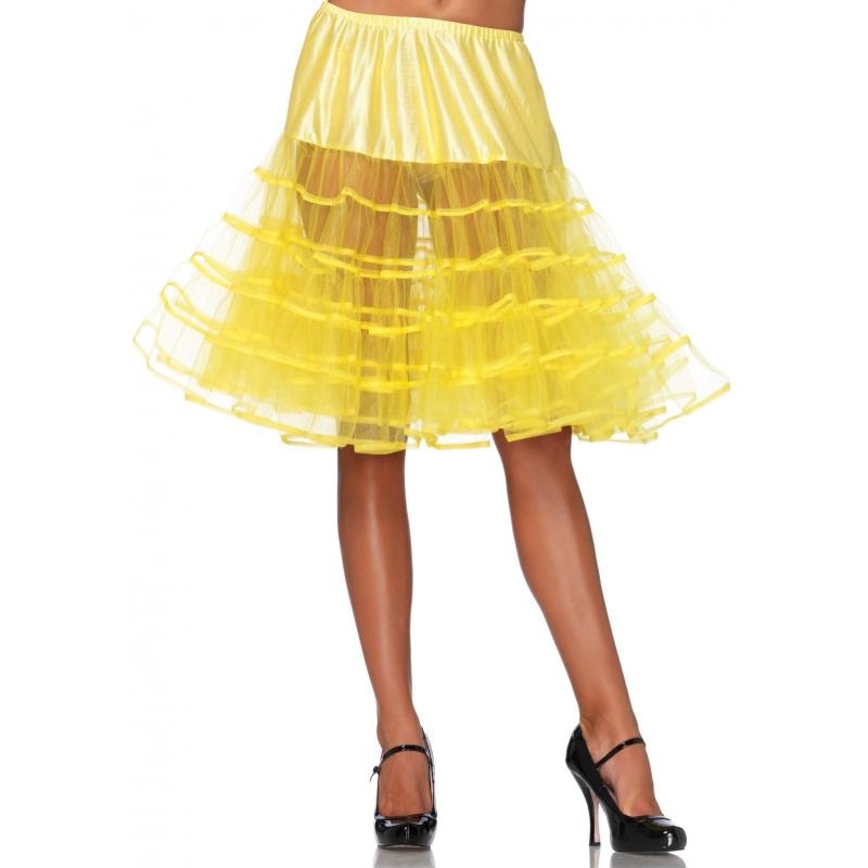Image of Gele jaren 50 petticoat voor dames