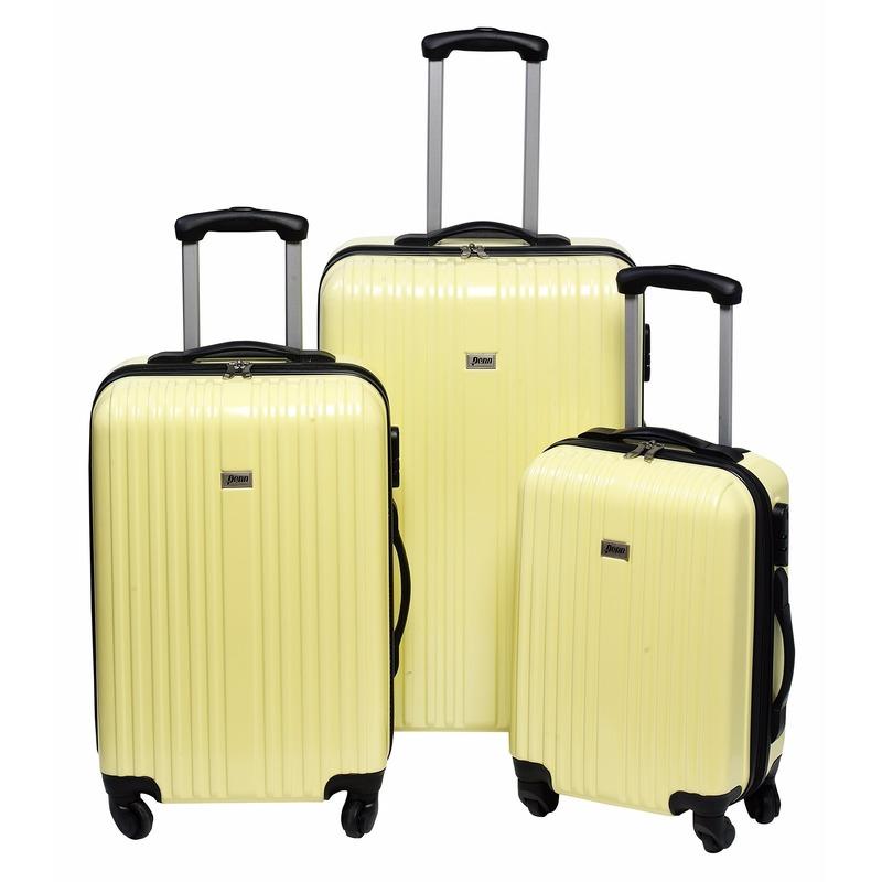 Image of Gele koffer op wielen 66 cm