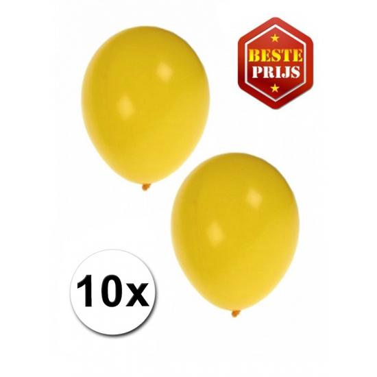 Image of Gele latex ballonnen 10 stuks