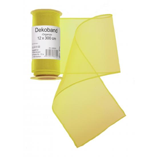 Image of Gele organza tule decoratie stof 12 x 300 cm