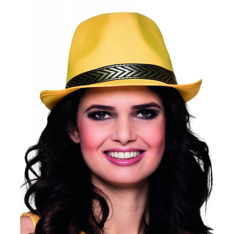 Image of Gele trilby hoed voor volwassenen