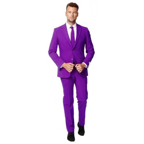 Image of Getailleerd paars maatpak voor heren