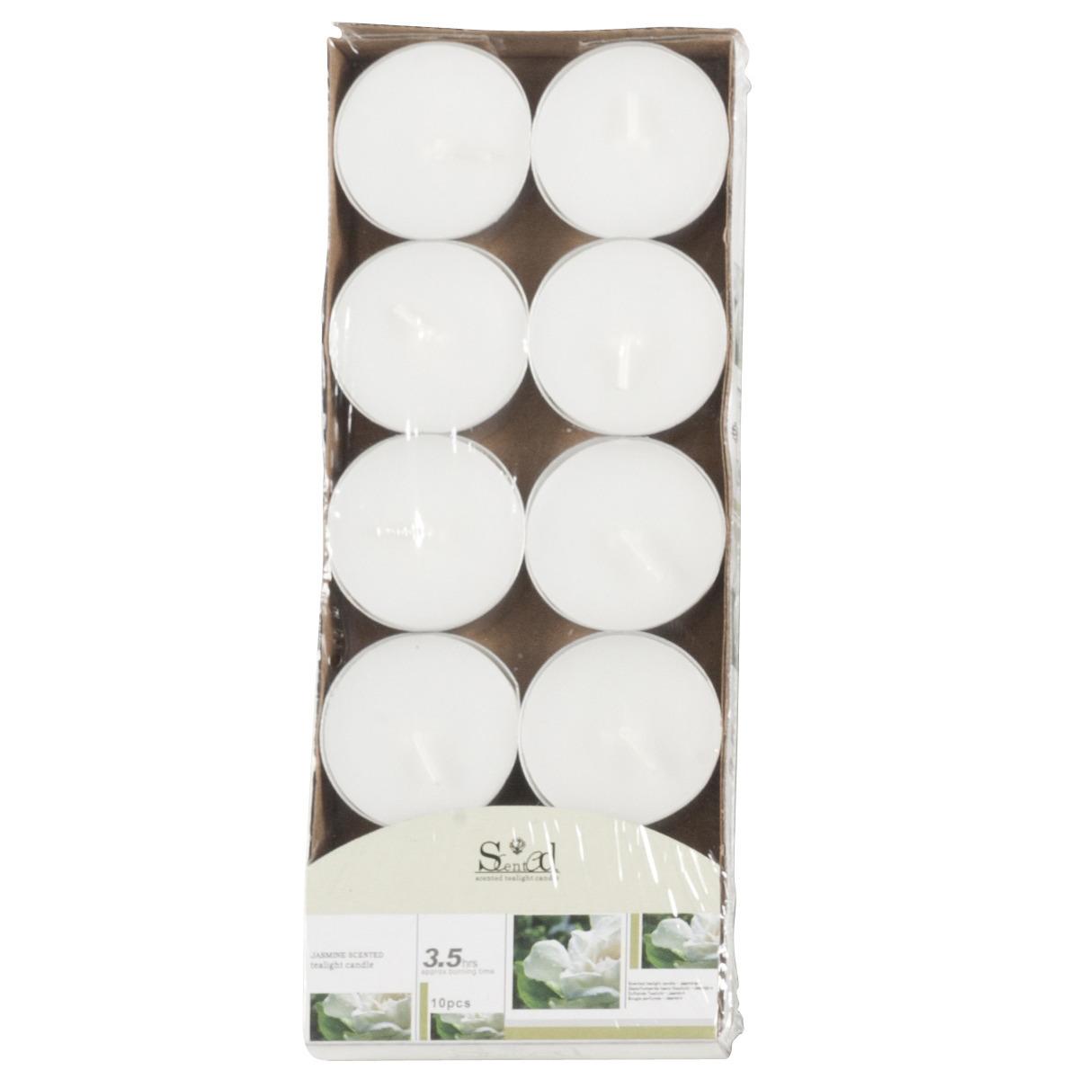 Image of Geur theelichtjes jasmijn wit 10 stuks