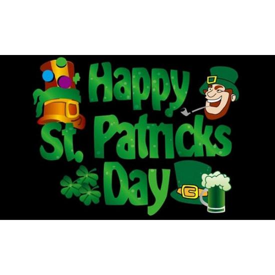 Image of Gevelvlag Happy St. Patricks day