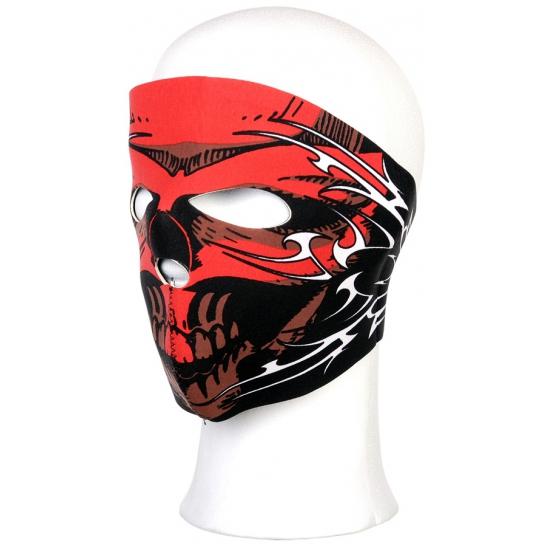 Image of Gezichtsmasker red skull voor volwassenen