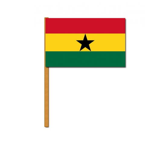 Ghana decoratie zwaaivlag