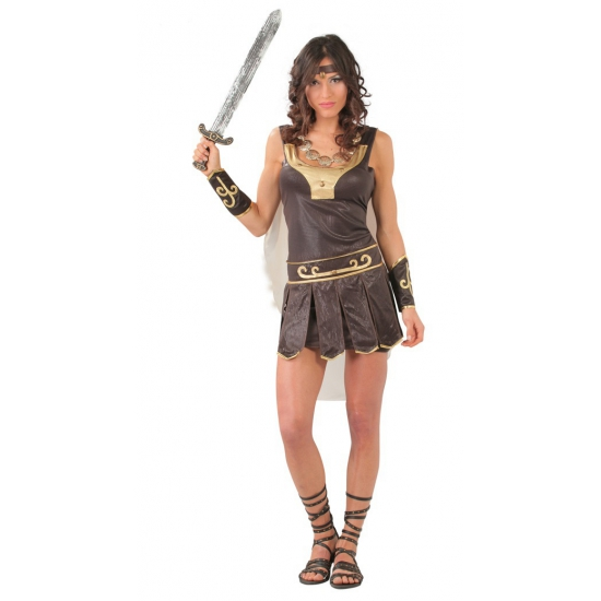 Image of Gladiator kostuum dames bruin/goud