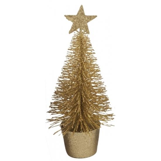 Image of Glitter mini kerstboompje goud