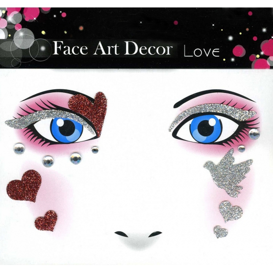 Image of Glitter schmink sticker liefde