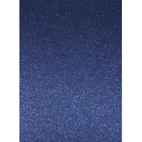 Image of Glitterend blauw hobby karton A4