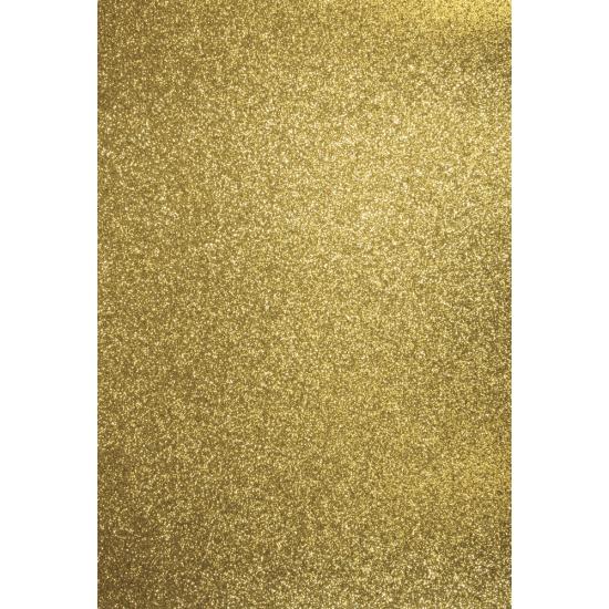 Image of Glitterend goud hobby karton A4