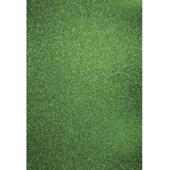Image of Glitterend groen hobby karton A4