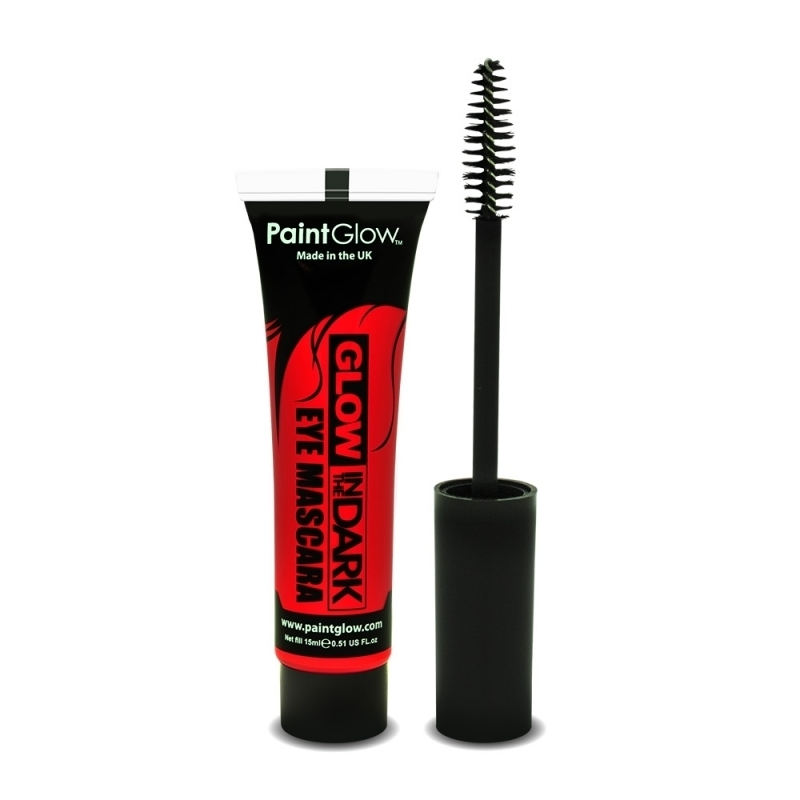 Image of Glow in the dark mascara rood