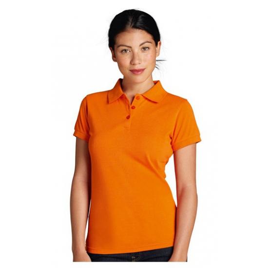 Image of Goedkope oranje dames polo