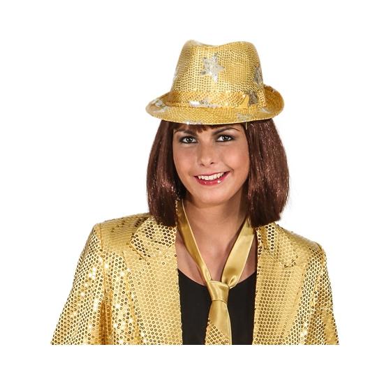 Image of Goud disco verkleedhoedje met sterren