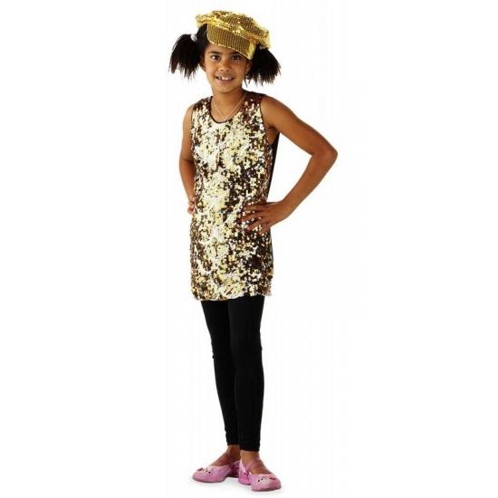 Image of Gouden disco jurken voor meisjes