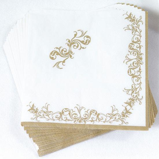 Image of Gouden kerst servetten 16 stuks