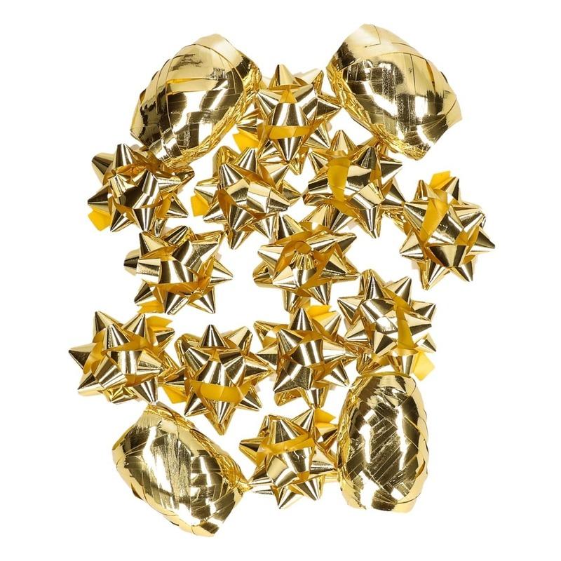 Image of Gouden kerstcadeau versiering set