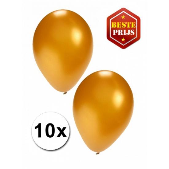 Image of Gouden latex ballonnen 10 stuks