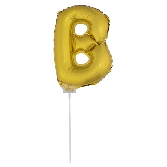 Image of Gouden opblaasbare letter B