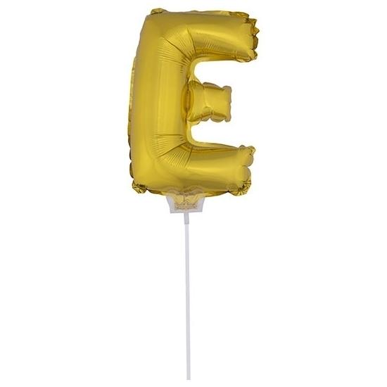 Image of Gouden opblaasbare letter E
