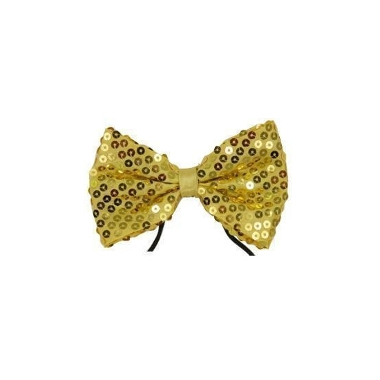 Image of Gouden vlinderdas met pailletten