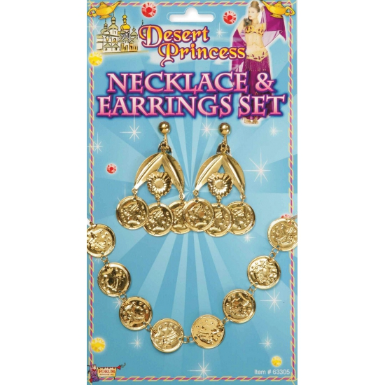 Image of Goudkleurige sieraden met muntjes