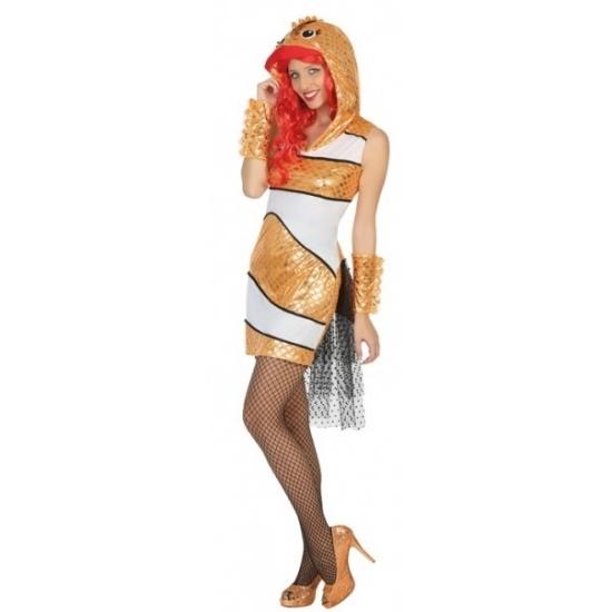 Goudvis verkleedkleding voor vrouwen